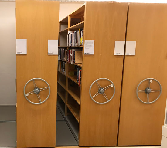 Archive shelfs at the department